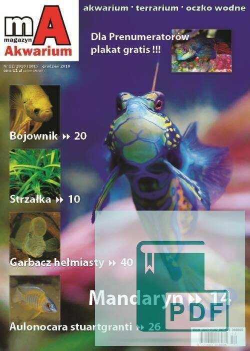 Okładka Magazyn Akwarium czasopismo 12/2010
