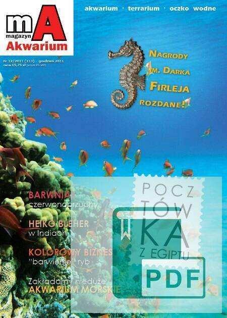 Okładka Magazyn Akwarium czasopismo 12/2011