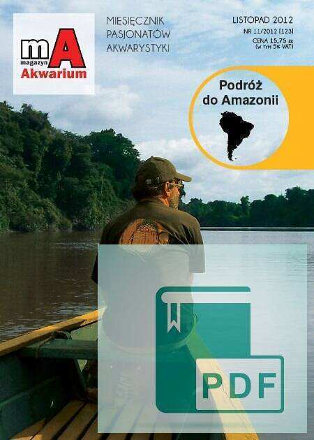 Okładka Magazyn Akwarium czasopismo 11/2012