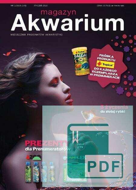 Okładka Magazyn Akwarium czasopismo 1/2015