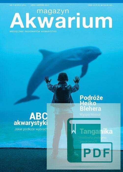 Okładka Magazyn Akwarium czasopismo 7-8/2015