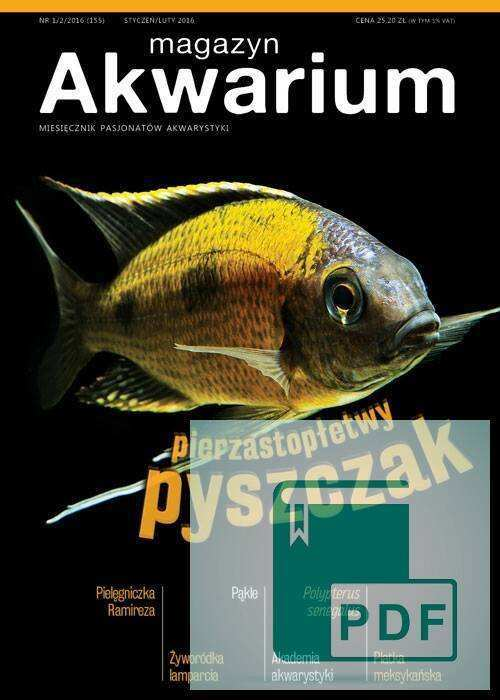 Okładka Magazyn Akwarium czasopismo 1-2/2016