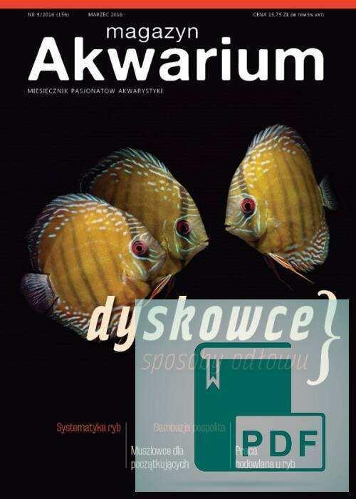 Okładka Magazyn Akwarium czasopismo 3/2016