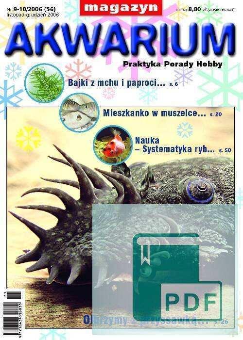 Okładka Magazyn Akwarium czasopismo 9-10/2006