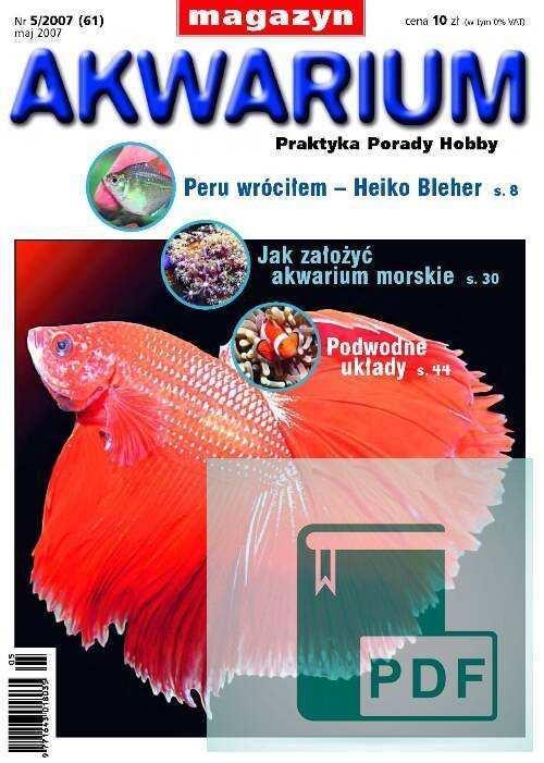 Okładka Magazyn Akwarium czasopismo 5/2007