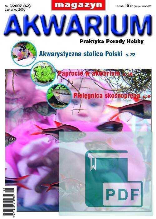 Okładka Magazyn Akwarium czasopismo 6/2007