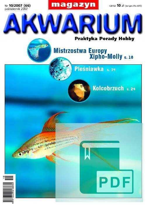 Okładka Magazyn Akwarium czasopismo 10/2007