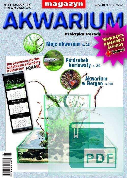 Okładka Magazyn Akwarium czasopismo 11-12/2007