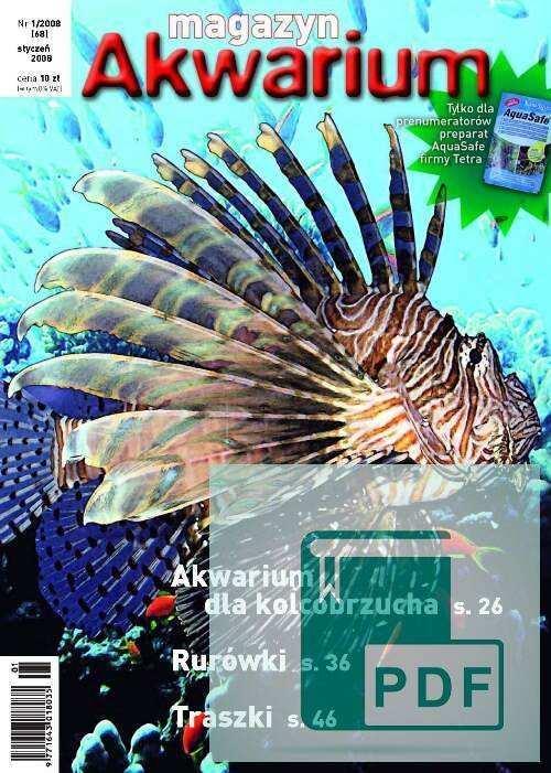 Okładka Magazyn Akwarium czasopismo 1/2008