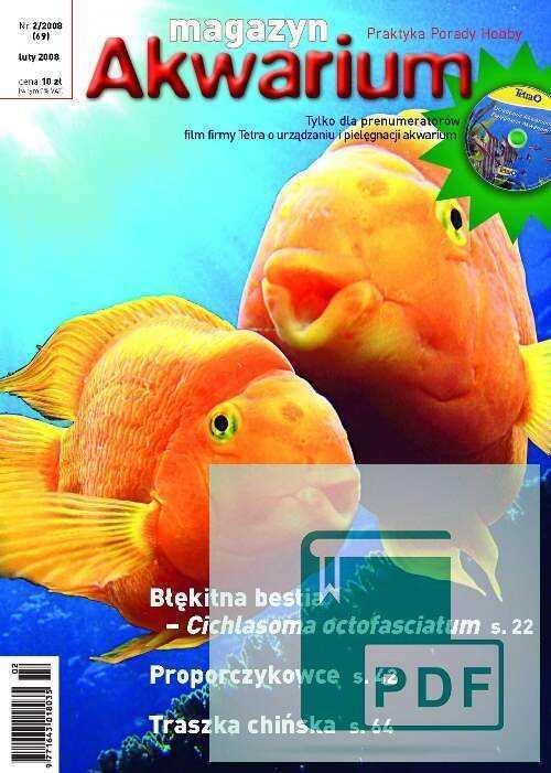 Okładka Magazyn Akwarium czasopismo 2/2008