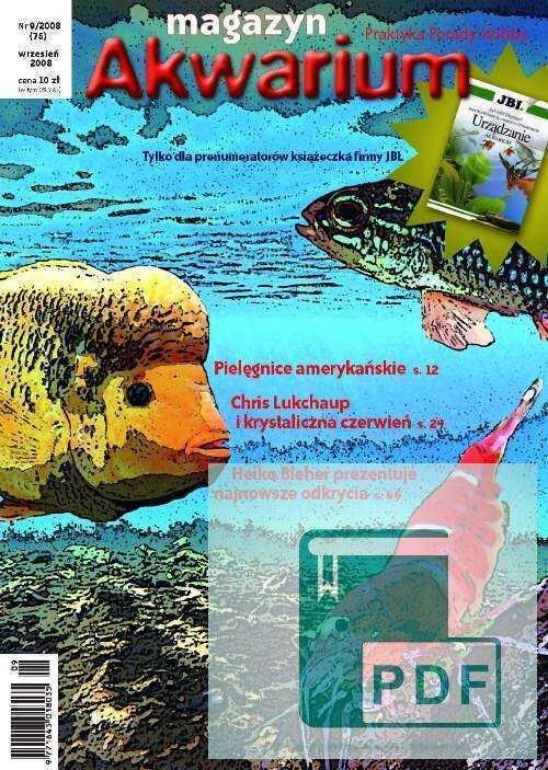 Okładka Magazyn Akwarium czasopismo 9/2008
