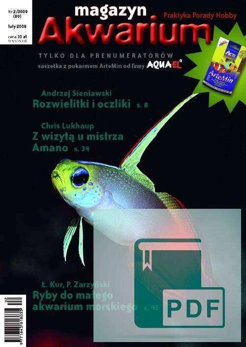 Okładka Magazyn Akwarium czasopismo 2/2009