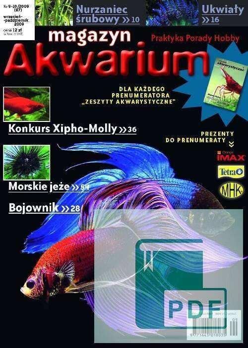Okładka Magazyn Akwarium czasopismo 9-10/2009
