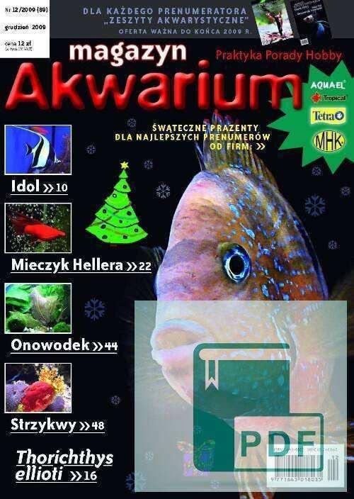 Okładka Magazyn Akwarium czasopismo 12/2009
