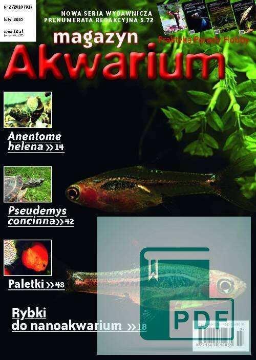 Okładka Magazyn Akwarium czasopismo 2/2010