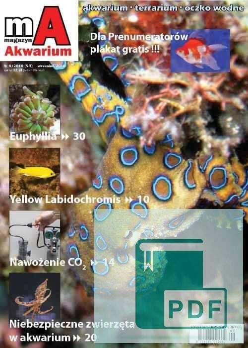 Okładka Magazyn Akwarium czasopismo 9/2010