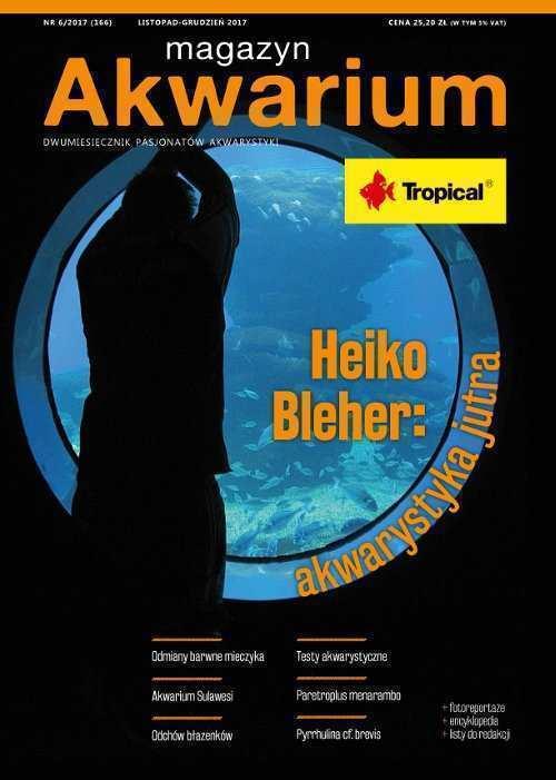 Okładka Magazyn Akwarium czasopismo 6/2017