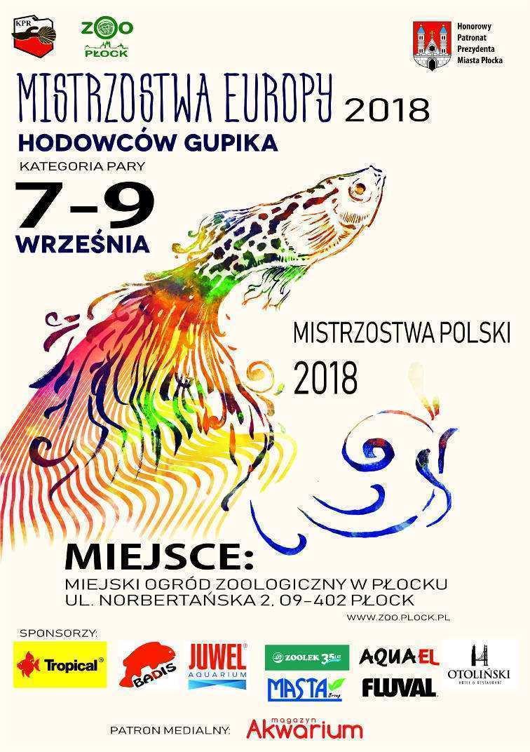 Konkursy akwarystyczne, Mistrzostwa Europy i Polski Hodowców Gupika 2018 Plakat