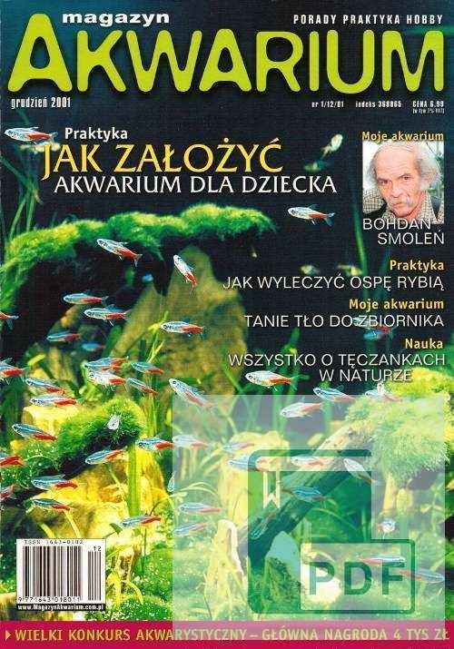 Okładka Magazyn Akwarium czasopismo 1/2001