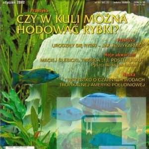 Okładka Magazyn Akwarium czasopismo 1/2002