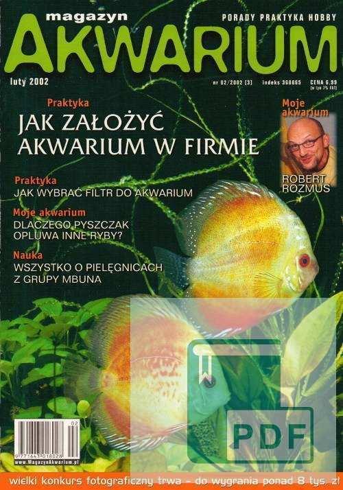 Okładka Magazyn Akwarium czasopismo 2/2002