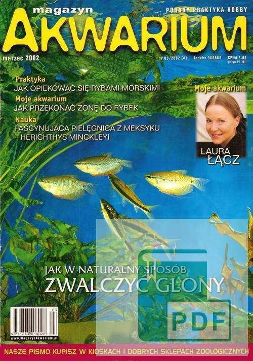 Okładka Magazyn Akwarium czasopismo 3/2002