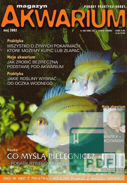 Okładka Magazyn Akwarium czasopismo 5/2002