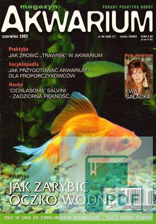 Okładka Magazyn Akwarium czasopismo 6/2002