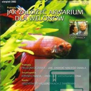 Okładka Magazyn Akwarium czasopismo 8/2002