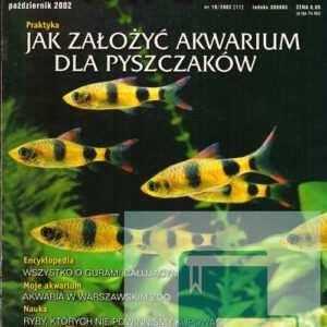Okładka Magazyn Akwarium czasopismo 10/2002