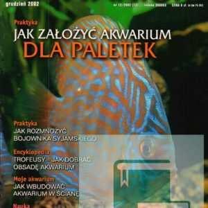 Okładka Magazyn Akwarium czasopismo 12/2002