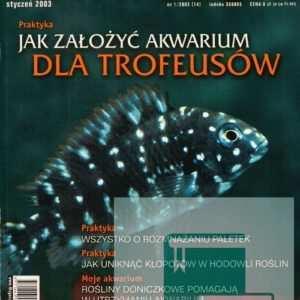 Okładka Magazyn Akwarium czasopismo 1/2003
