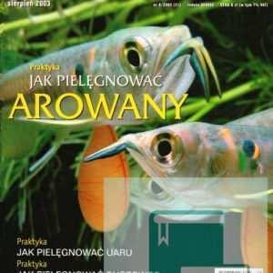 Okładka Magazyn Akwarium czasopismo 8/2003