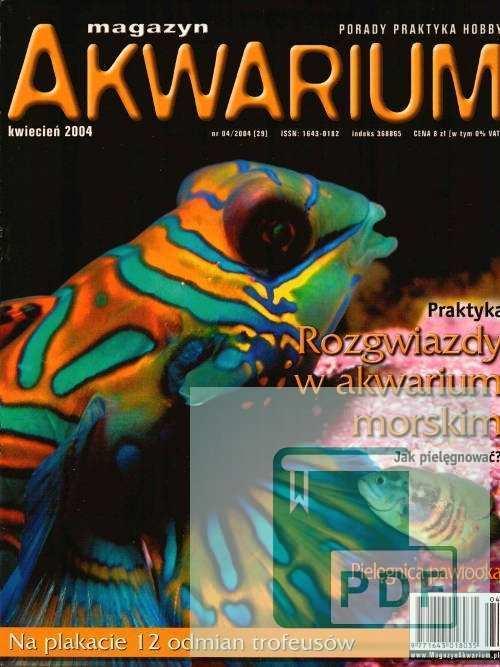 Okładka Magazyn Akwarium czasopismo 4/2004
