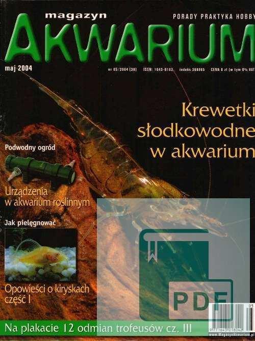 Okładka Magazyn Akwarium czasopismo 5/2004