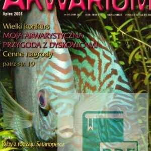Okładka Magazyn Akwarium czasopismo 7/2004