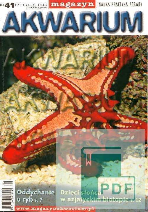 Okładka Magazyn Akwarium czasopismo 4/2005