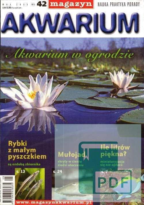 Okładka Magazyn Akwarium czasopismo 5/2005