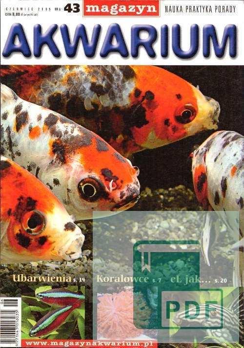 Okładka Magazyn Akwarium czasopismo 6/2005