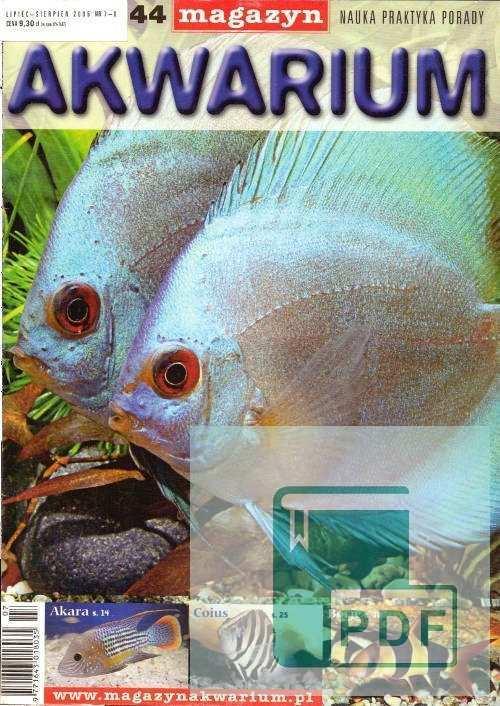 Okładka Magazyn Akwarium czasopismo 7-8/2005
