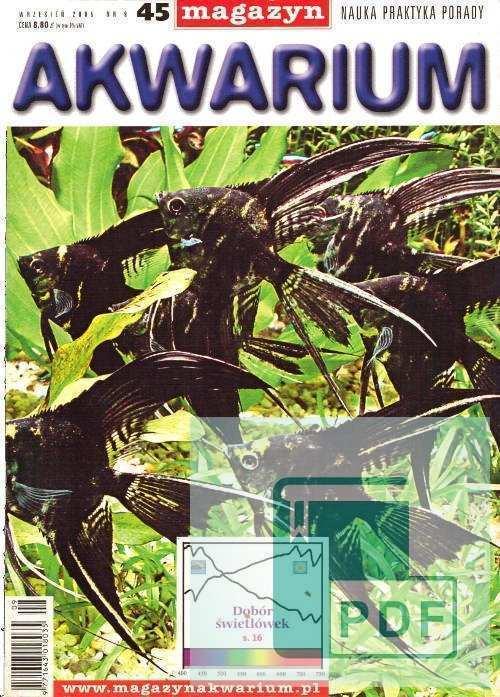 Okładka Magazyn Akwarium czasopismo 9/2005