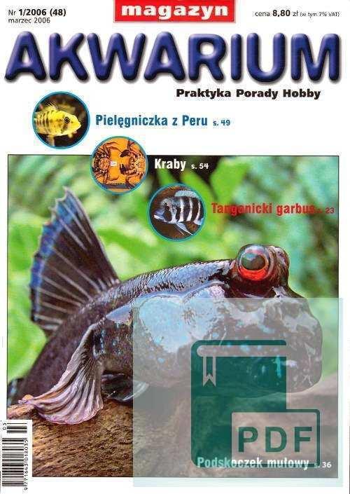 Okładka Magazyn Akwarium czasopismo 1/2006