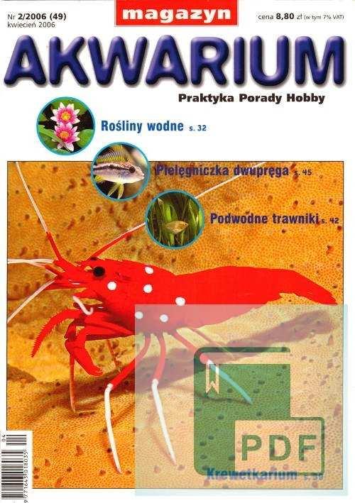 Okładka Magazyn Akwarium czasopismo 2/2006
