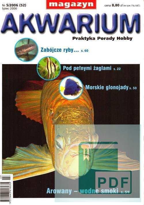 Okładka Magazyn Akwarium czasopismo 5/2006